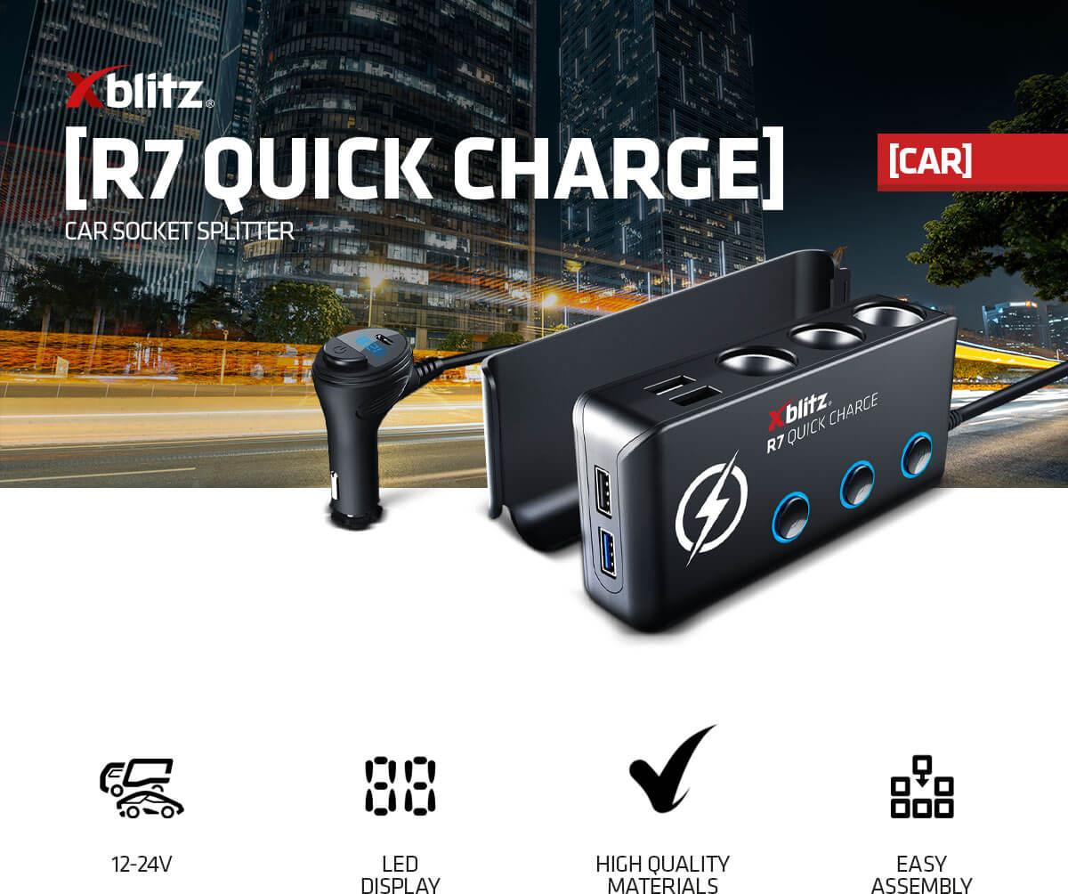Xblitz R7 Quick Charge car socket splitter