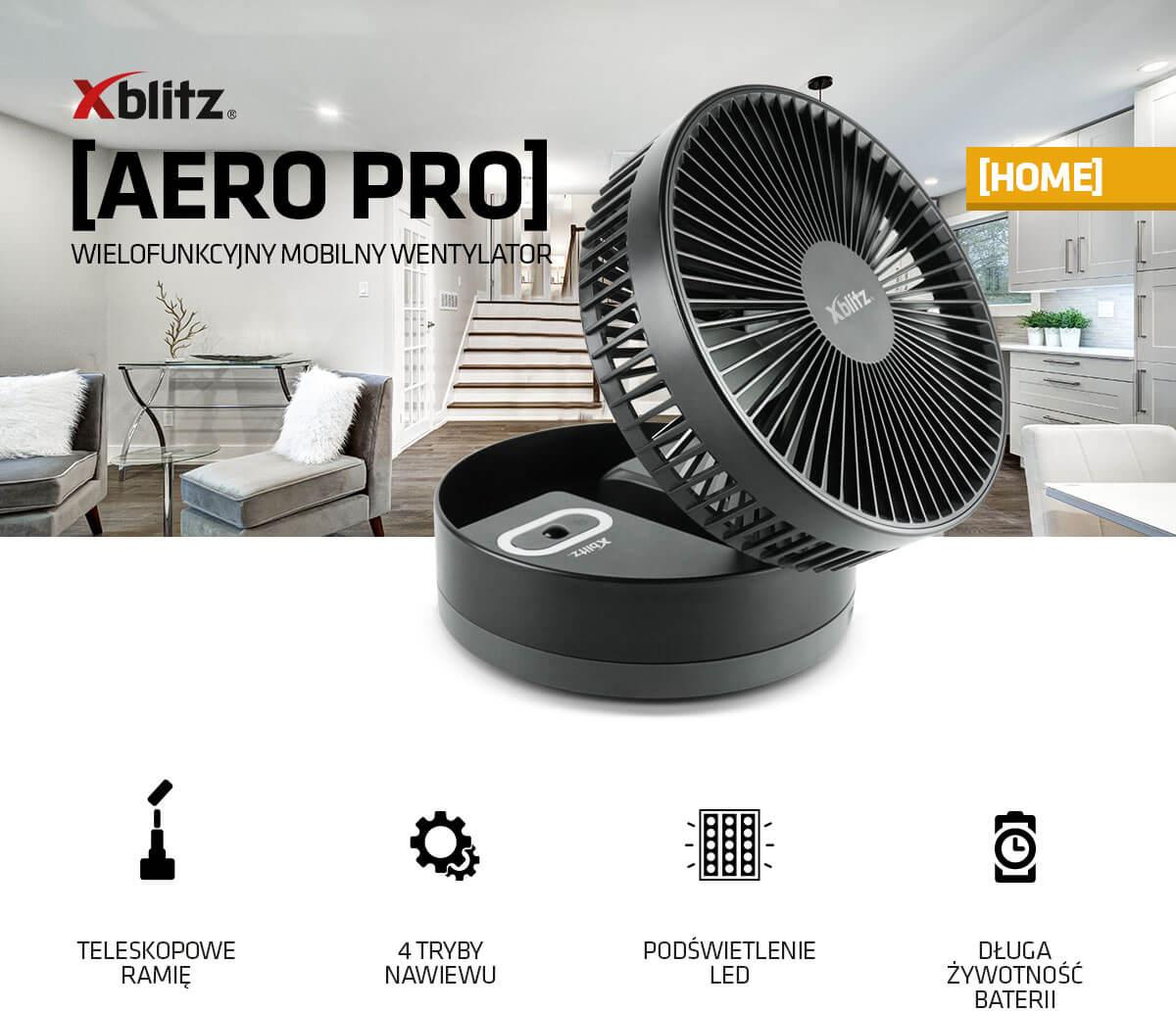 Wielofunkcyjny mobilny wentylator Xblitz Areo Pro