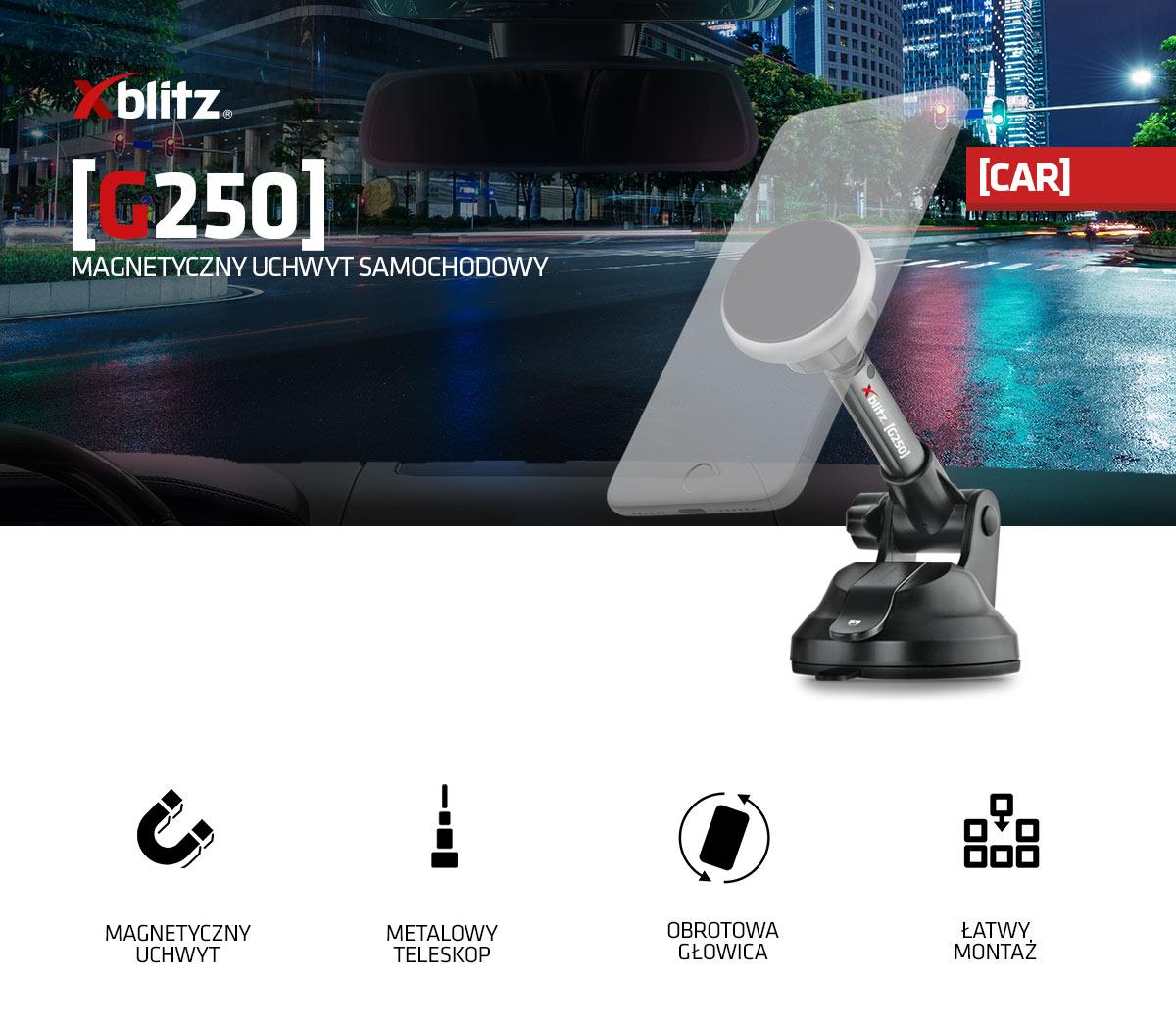 Magnetyczny uchwyt samochodowy Xblitz g250