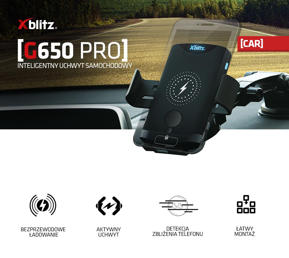 Magnetyczny uchwyt samochodowy Xblitz g650