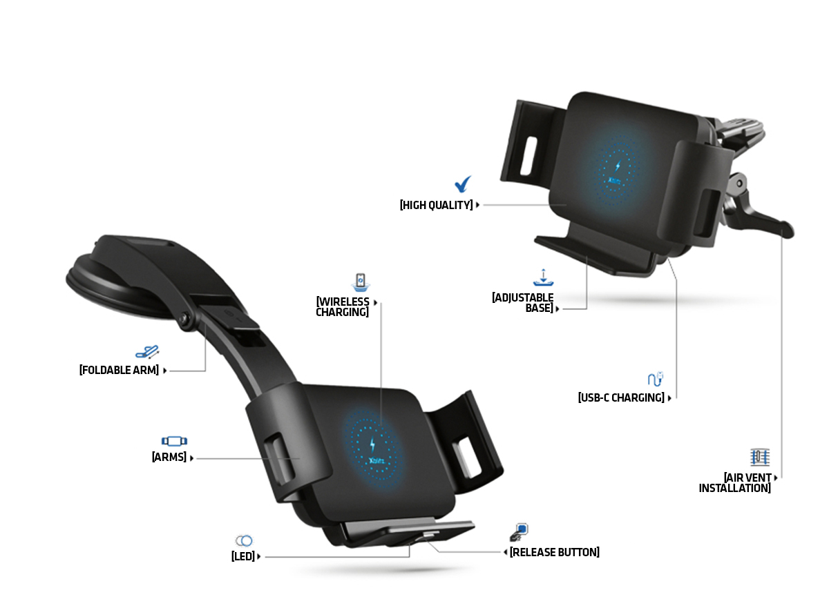 Xblitz G950 PRO Car Holder with QI technology