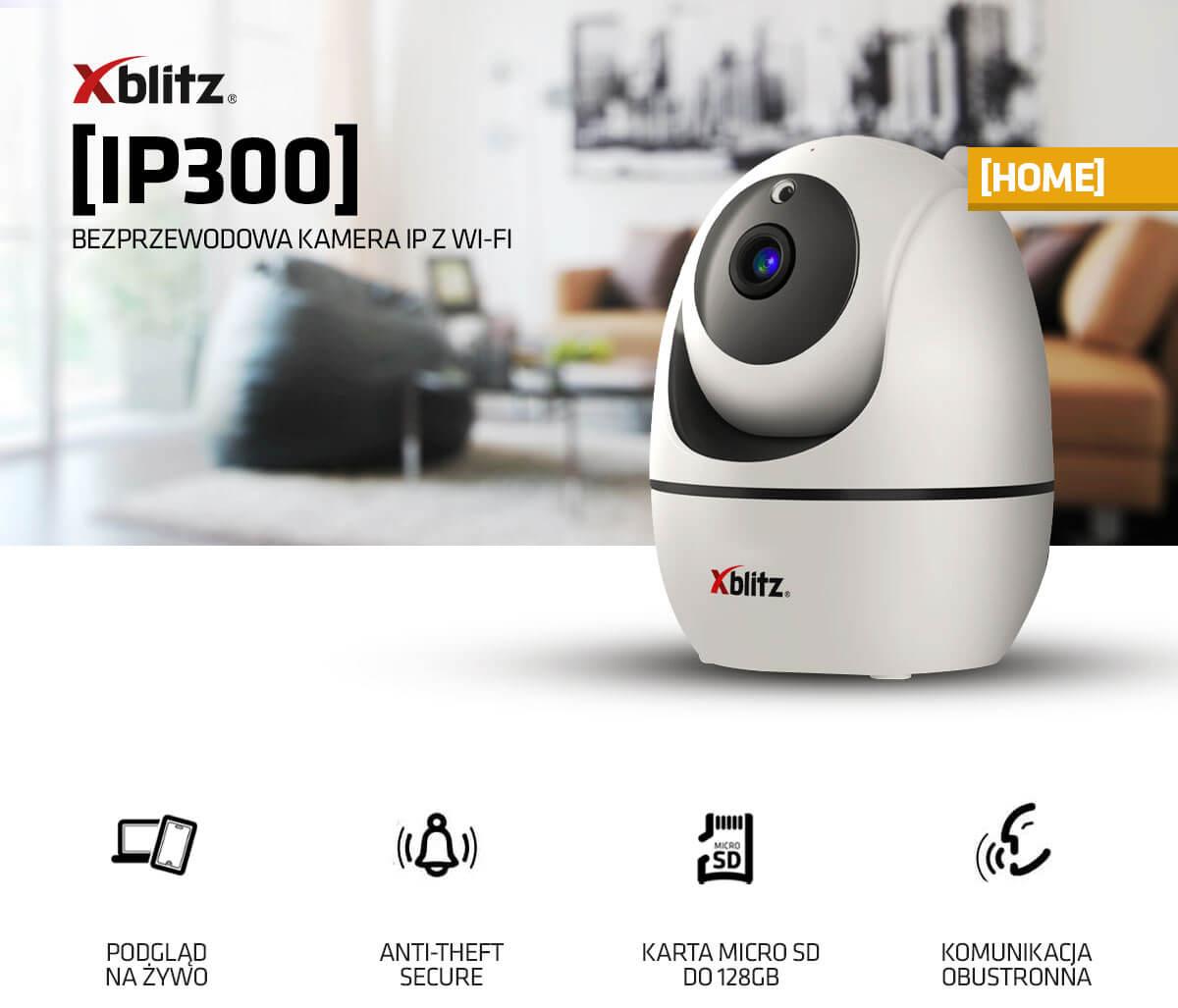 Bezprzewodowa kamera IP z WI-FI Xblitz IP300