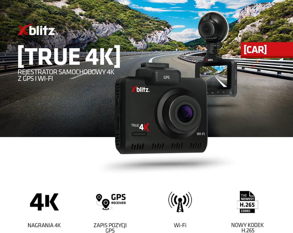 Rejestrator samochodowy 4K z GPS i WI-FI Xblitz True 4K