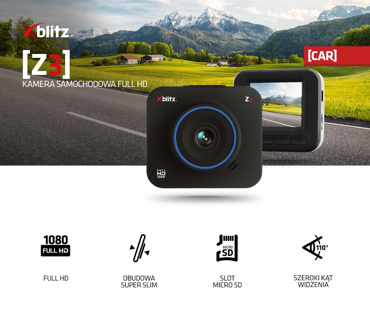 Mini wideorejestrator samochodowy FULL HD Xblitz Z3