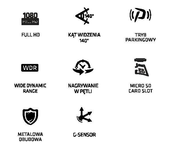 Funkcje kamery Xblitz Dual Core