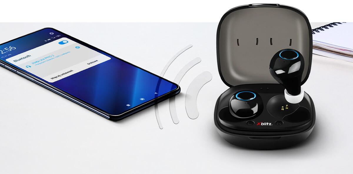 automatyczne łączenie słuchawek bt uni pro 2 xblitz