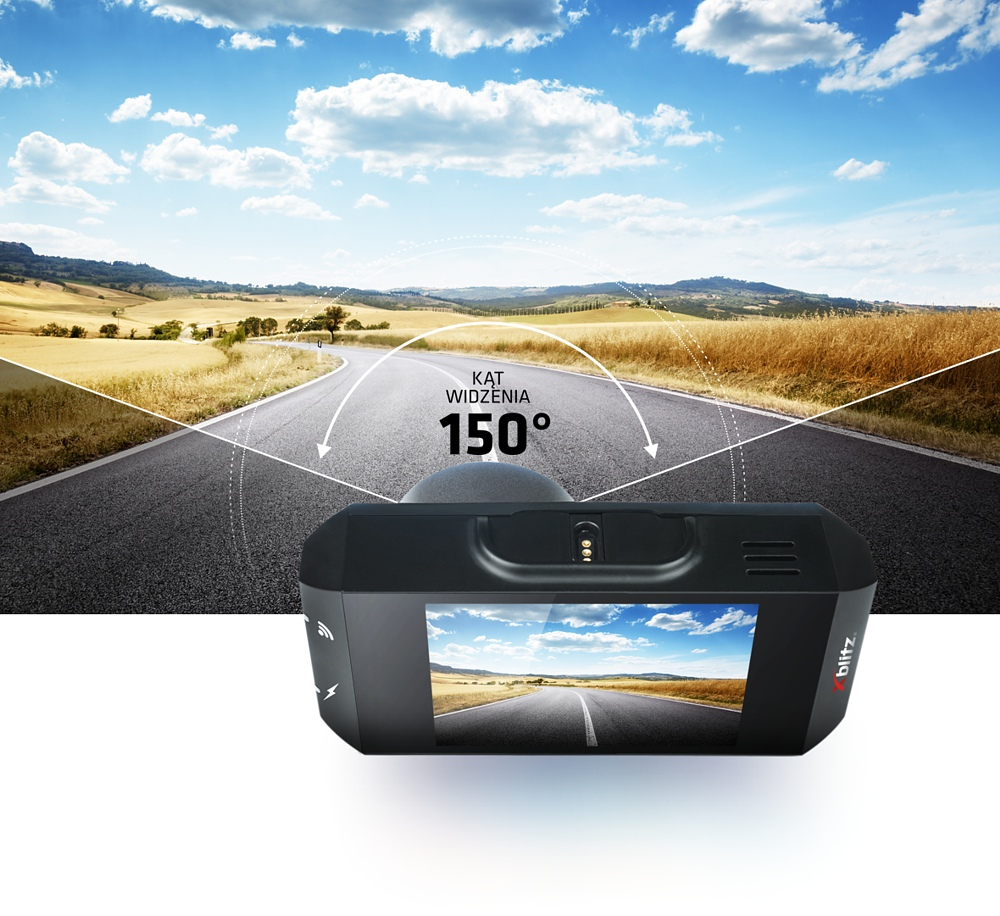 xblitz v2 dashboard camera view angle is 150 stopni degrees
